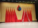 宏达丰业供应会议旗帜 舞台旗帜 旗穗 旗杆 旗尖 旗座