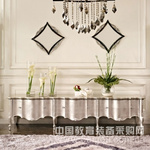 一家一居供应 新古典风格 客厅家具 银色单面酒柜地柜组合