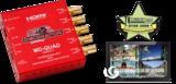 MD-QUADv3 迷你(3G/HD/SD)-SDI Quad Split/多画面分割器 带(3G/HD/SD)-SDI和HDMI输出