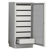 固耐安7抽屉防磁信息安全柜