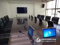 志欧无纸化会议系统高清超薄一体机升降器会议桌