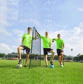 【派迪茵】廠家直銷 足球訓練網三人制訓練反彈網