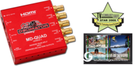 MD-QUADv3 迷你(3G/HD/SD)-SDI Quad Split/多畫面分割器 帶(3G/HD/SD)-SDI和HDMI輸出