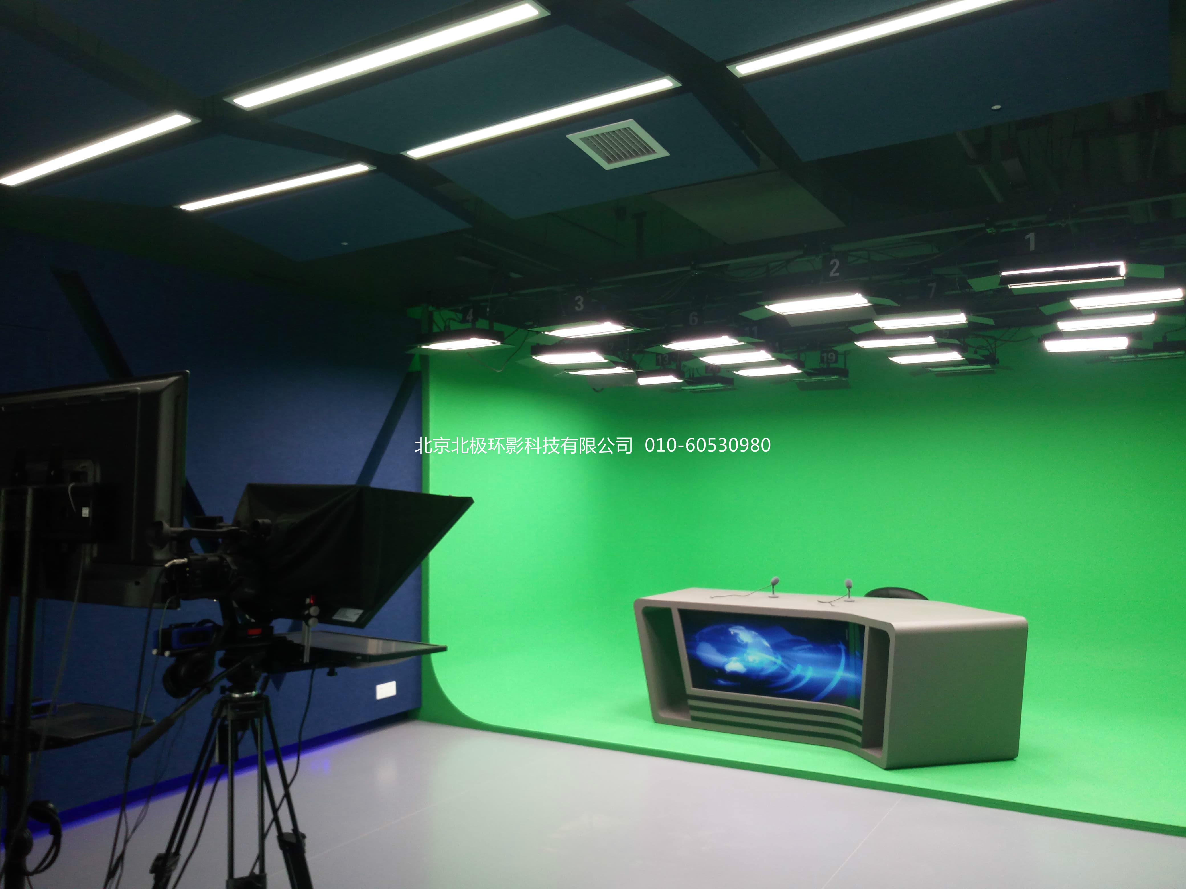 浅谈虚拟演播室装修之两面墙抠像蓝箱安装方式