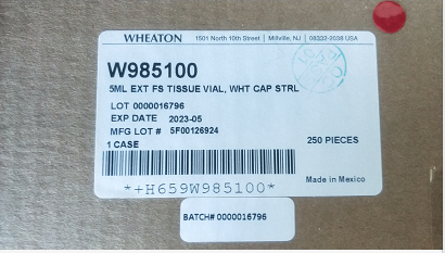 Wheaton 组织储存瓶 W985100