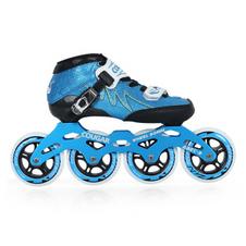 【美洲狮COUGAR】SR3儿童专业速滑鞋成人竞速鞋碳纤鞋壳可热塑男女速滑鞋 蓝色