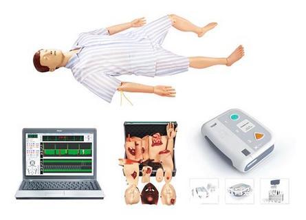 高级心肺复苏AED除颤 创伤模拟人 上海秉恪科教设备有限公司