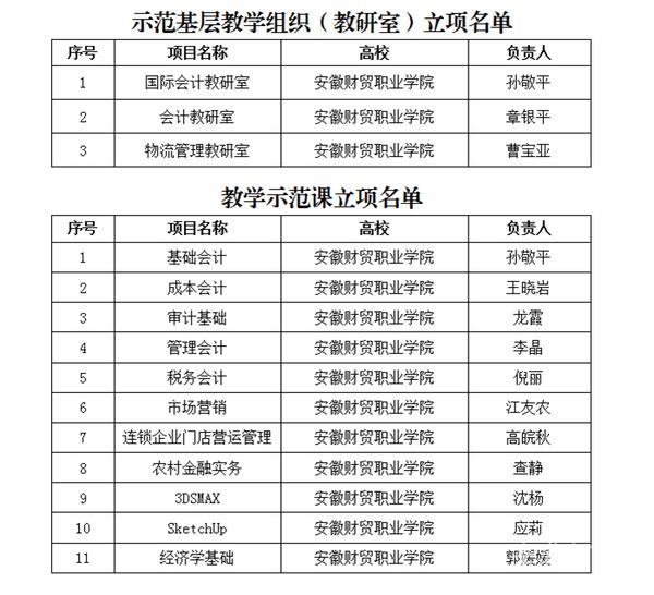 """安徽财贸职业获批安徽省""""双基""""建设示范高校"""