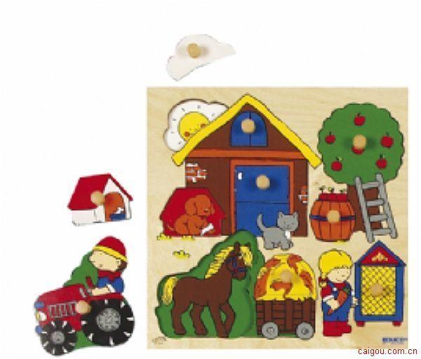 抓手拼图游戏-参观农场