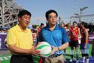 浩康助力2013中国公园排球公开赛 冯坤明星队首秀险胜