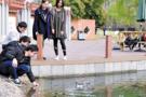 杭电大学生造水上机器人 助劣V类水剿灭战