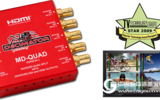 MD-QUADv3 迷你(3G/HD/SD)-SDI Quad Split/多画面分割器 带(3G/HD/SD)-SDI和HDMI输出