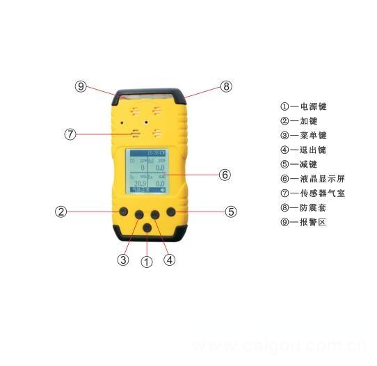 ppm、mg/m3可一键切换显示手持式臭氧检测仪