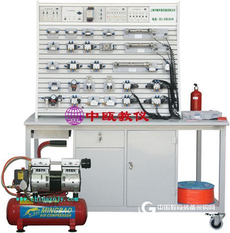 鋁槽式鐵桌氣動PLC控制實驗臺